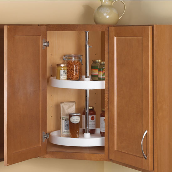 outdoor kitchen cabinets polymer shaker style knape & vogt full-round 2-shelf lazy susans for ...