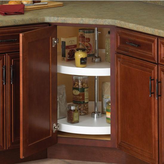 outdoor kitchen cabinets polymer cheap knape & vogt full-round 2-shelf lazy susans for ...