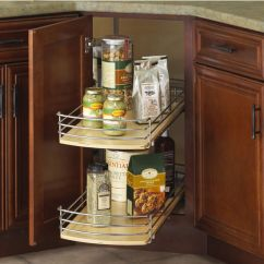 Kitchen Base Cabinets Unfinished Pantry Drawer Systems Knape & Vogt Full-round Wood Lazy Susan With Pull-out ...