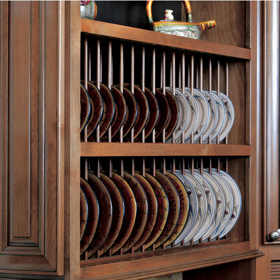 omega kitchen cabinets island rolling cabinet accessories - pre-assembled plate display rack kit ...