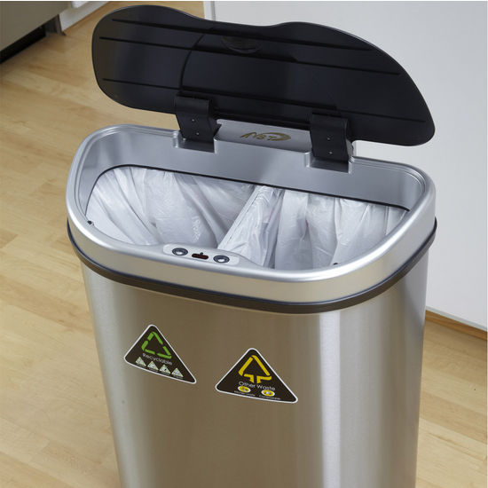 Trash Cans  18 12 Gallon Infrared Trash Can  Recycling