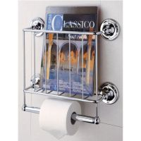 Shelves - Wall Mounted Magazine Rack with Toilet Paper ...