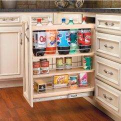 Kitchen Floor Cabinet Home Depot White Cabinets Organizers Adjustable Wood Pull Out For Or Vanity Base Full Extension Tri Slides By Rev A Shelf Kitchensource Com