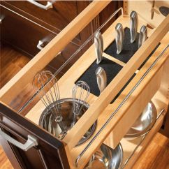 Kitchen Cabinet Organizer Moen Touchless Faucet Rev-a-shelf Pull-out Knife And Utensil Base ...