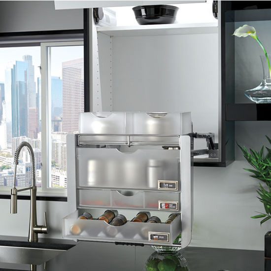 stainless steel kitchen racks vintage stoves universal cabinet pull down shelf system for 24'' wall ...
