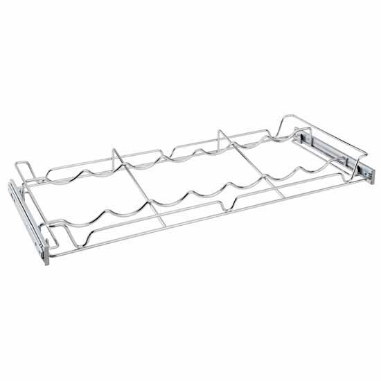 Sidelines Wire Pullout Wine Bottle Rack for 14