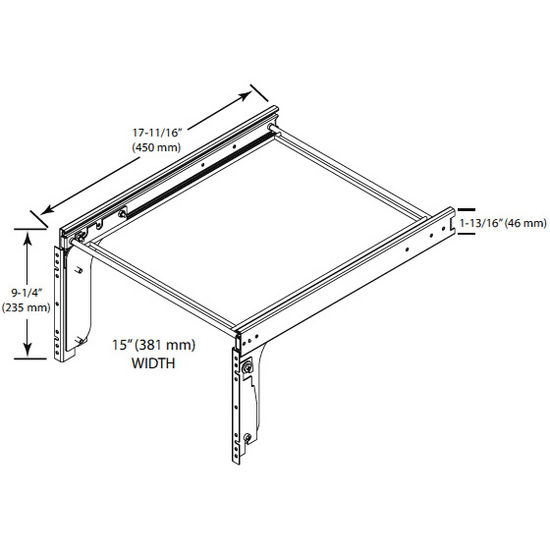 Rev-A-Shelf Pull-Out File Drawer System for Kitchen or