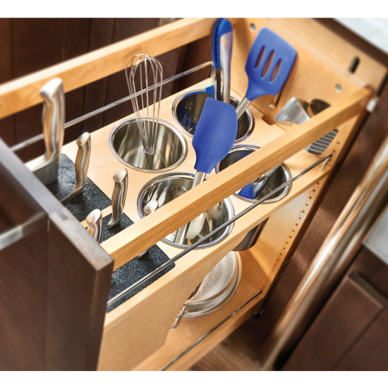 unfinished kitchen base cabinets cottage style rev-a-shelf pull-out knife and utensil cabinet ...