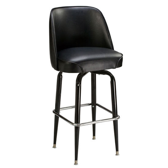 swivel chair regal mechanism parts metal bar stool w smooth upholstered seat and footrest kitchensource com
