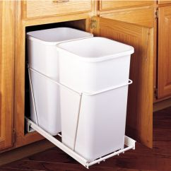 Stainless Steel Kitchen Trash Cans Salamander Rev-a-shelf Double Pull-out Waste Containers - 2 X 27 ...