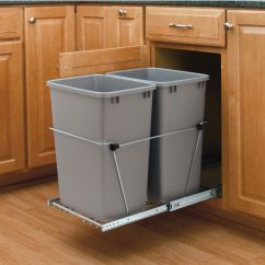 Trash Cans Kitchen Refurbished Appliances Wholesalers Rev-a-shelf Double Pull-out Waste Containers - 2 X 27 ...