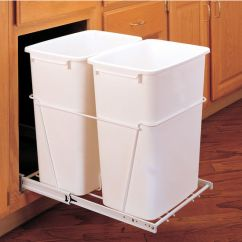 Bakers Racks For Kitchen Islands With Breakfast Bar Rev-a-shelf Double Pull-out Waste Containers - 2 X 27 ...