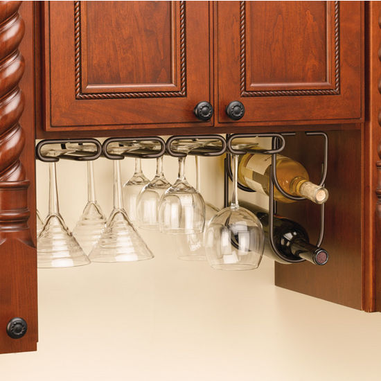 Wine Glass Stemware Racks for Shelf or Under Cabinet