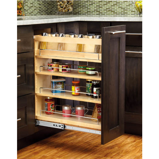 kitchen base cabinets unfinished wayfair stools cabinet-organizers - adjustable wood pull-out organizers ...