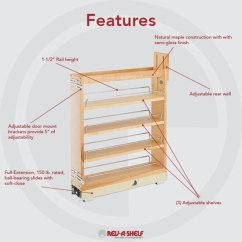 Kitchen Floor Cabinet Aid Stand Mixer Attachments Rev A Shelf Wood Pull Out Organizers With Soft Close Slides For Base Kitchensource Com