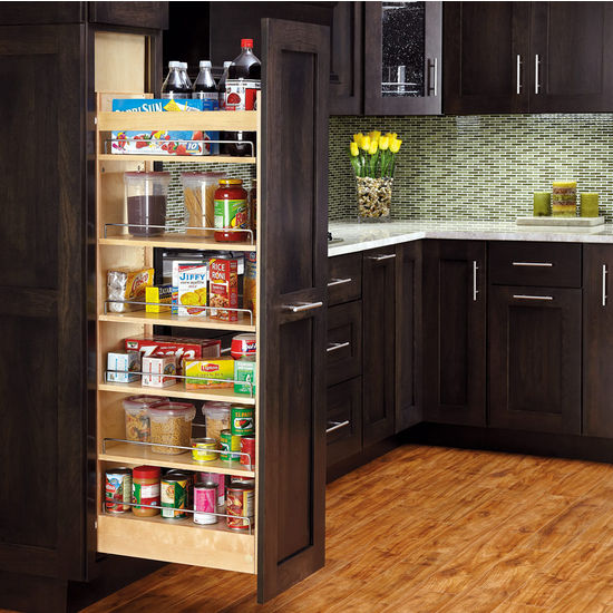pull out kitchen cabinet 10x10 remodel cost rev a shelf tall wood pantry with adjustable shelves for free shipping kitchensource com