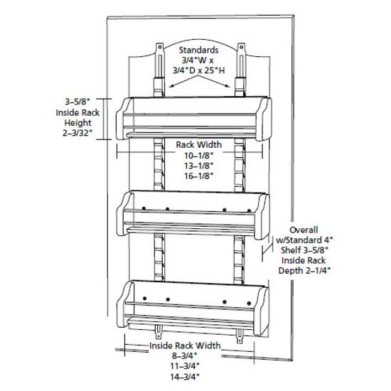 Adjustable Door Mount Spice Rack by Rev-A-Shelf