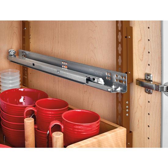 Kitchen Storage Base Cabinet Pullout Adjustable Shelf Pilaster System Kit with Blums TANDEM