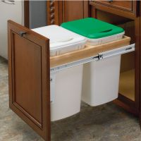 Rev-A-Shelf Double Pull-Out Waste Bins for Framed Cabinet ...