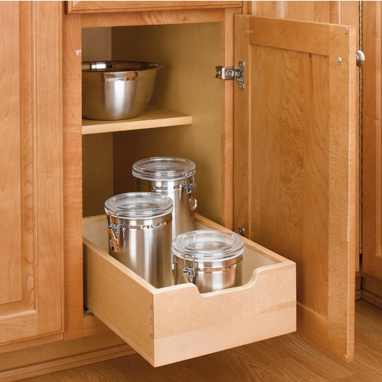 Kitchen Base Cabinet Wood Pull Out Drawers W 3 4'' Extension Euro