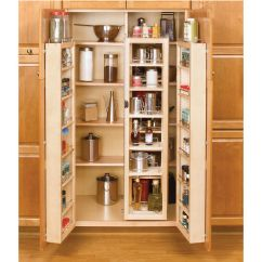 Tall Kitchen Pantry Cabinet Furniture Cannisters Rev-a-shelf Swing-out Chef's Pantries ...