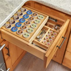 Replacement Kitchen Drawer Box Storage Pantry Cabinet Rev A Shelf Two-tier Insert With K-cup Holder ...