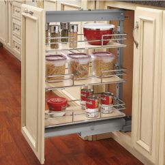 Kitchen Pull Out Shelves Black Slate Floor Tiles Rev A Shelf Shorty Pantry With Maple For Base Cabinet Free Shipping Kitchensource Com