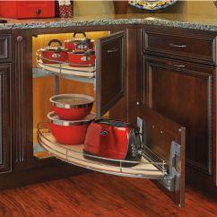 Kitchen Cabinet Corner Shelf Virtual Designer Online Rev-a-shelf ''the Curve
