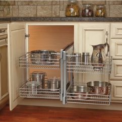 Kitchen Corner Cabinet Breakfast Bar Stools Rev A Shelf Blind Optimizer Maximizes Space In Cabinets Kitchensource Com