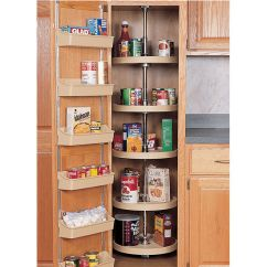 Kitchen Lazy Susan Redo Rev A Shelf Traditional Pantry Cabinet 5 Tray Set In White And Almond Kitchensource Com
