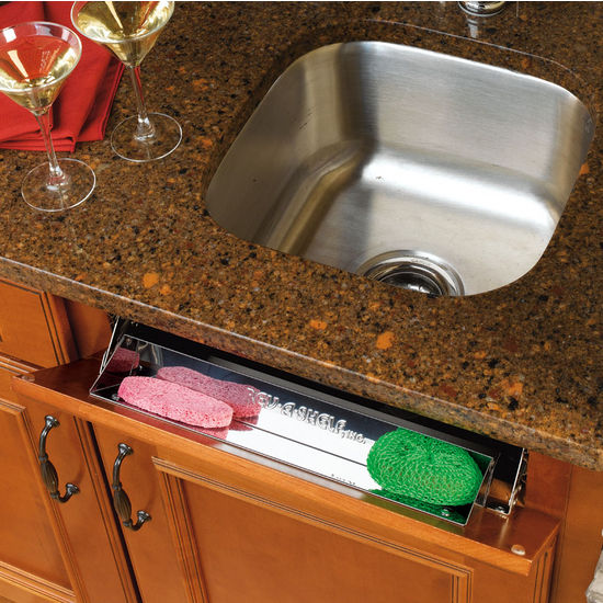 Kitchen and Vanity Sink Front TipOut Stainless Steel