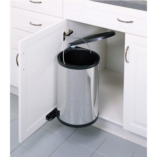 RevAShelf Pivot Out Round Waste Bin for Kitchen or