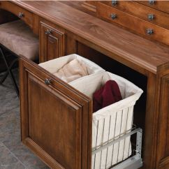 Unfinished Kitchen Cart Outdoor Creations Rev-a-shelf Double Wire Hamper With Rev-a-motion ...