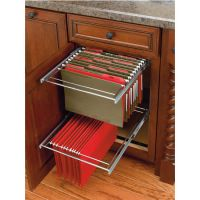 Two-Tier Pull-Out File Drawer System for Kitchen or Desk ...