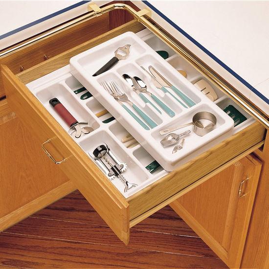 kitchen cabinets organizer corner nook drawer organizers - rev-a-shelf 2-tier insert cutlery ...