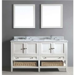 Kitchen Sinks With Drain Boards Oak Cabinets 60''w Bohemian Vanity Set; Counter Top (aacct602134-01 ...