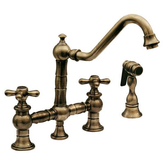 Kitchen Faucets Whitehaus Vintage Iii Bridge Faucet Side Spray