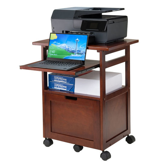Piper Portable Work Cart  Printer Stand with PullOut Key