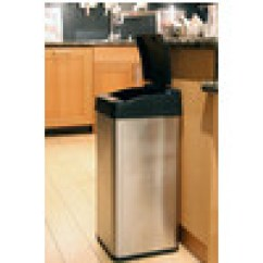 How Many Gallons Is A Kitchen Trash Can Cheap Small Table Cans - 7-gallon Plastic Infrared With Grey ...