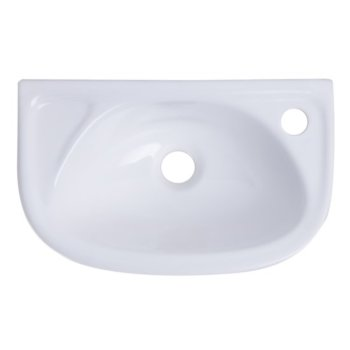 small white wall mounted porcelain bathroom sink basin 16 1 4 wide by alfi brand kitchensource com