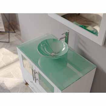 porcelain vessel sink vanity set