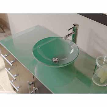 porcelain square vessel sink vanity set