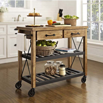 crosley kitchen island remodeling st louis furniture islands carts shop roots rack industrial cart 42 w x 18 d 36 1 2 h