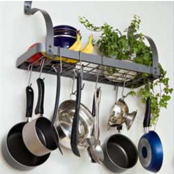 kitchen pot rack planning a island racks kitchensource com oval rectangular
