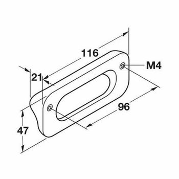 HA-192.48.456 Wood Surface Pull Handle 116mm (4-1/2