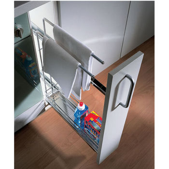kitchen base cabinet pull outs island in the hafele pull-out organizer with towel ...