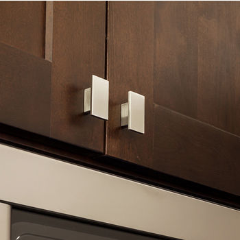 Mirada Collection Rectangle Cabinet Knob 1916 Wide in