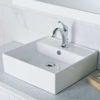 faucet combo set with lift rod drain by