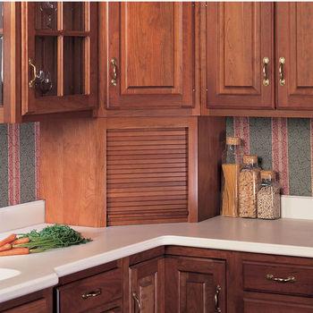 Omega National Tambour Corner Wood Kitchen Appliance Garage