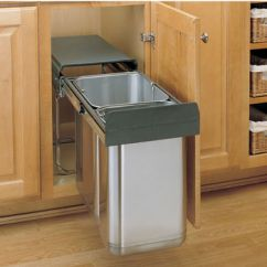 Kitchen Compost Container Green Towels Pull-out & Built-in Trash Cans - Cabinet Slide Out Under ...